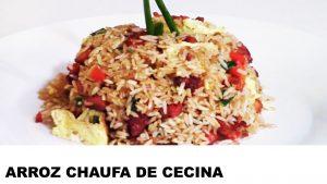 receta arroz chaufa de cecina