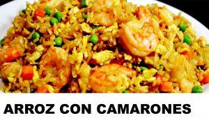 receta del arroz con camarones