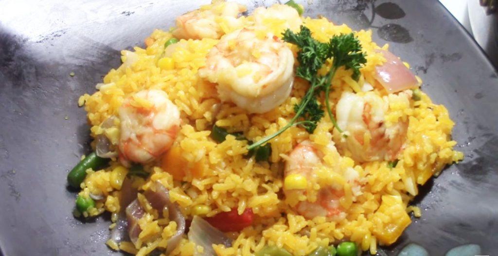 arroz con camarones recetas