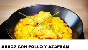 cómo cocinar arroz con pollo y azafrán