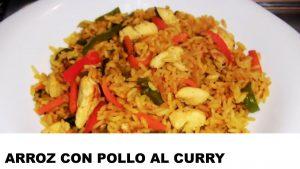 cómo cocinar arroz con pollo al curry