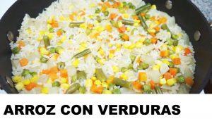 receta del arroz con verduras