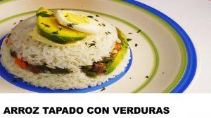 receta de arroz tapado con verduras