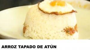 receta de arroz tapado de atún