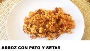 receta arroz con pato y setas