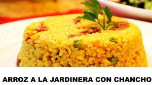 arroz a la jardinera con chancho