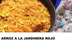 receta arroz a la jardinera rojo