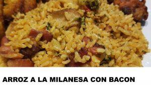 receta arroz a la milanesa con bacon