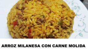 receta arroz a la milanesa con carne molida
