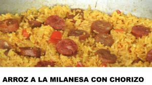 receta de arroz a la milanesa con chorizo