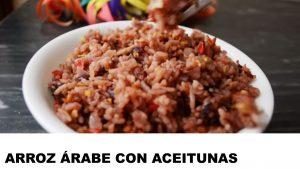 receta arroz árabe con aceitunas