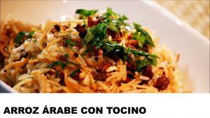 receta arroz árabe con tocino