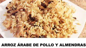 receta arroz árabe de pollo y almendras