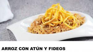 receta arroz con atún y fideos