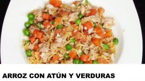 receta arroz con atún y verduras