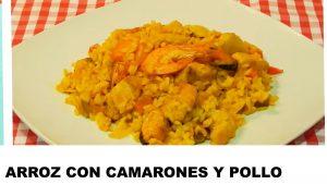 receta arroz con camarones y pollo