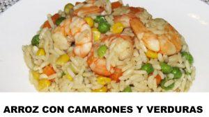 receta arroz con camarones y verduras