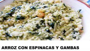 receta arroz con espinacas y gambas
