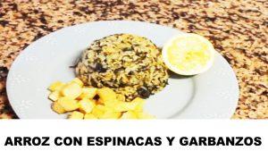 receta de arroz con espinacas y garbanzo