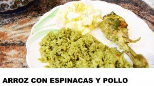 receta arroz con espinacas y pollo