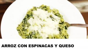receta de arroz con espinacas y queso