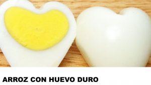 receta de arroz con huevo duro