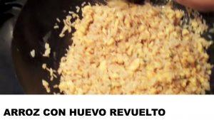 receta de arroz con huevo revuelto