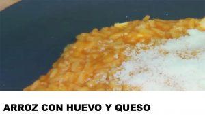 receta arroz con huevo y queso