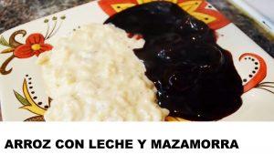 receta arroz con leche y mazamorra