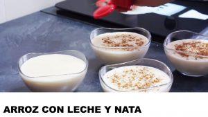 receta arroz con leche y nata
