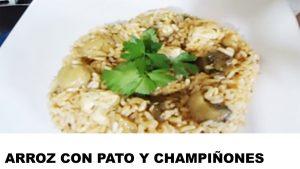 receta arroz con pato y champiñones