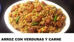 receta arroz con verduras y carne