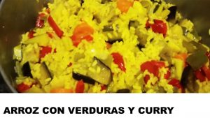 receta arroz con verduras y curry