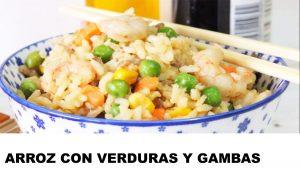 receta arroz con verduras y gambas