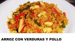 receta arroz con verduras y pollo