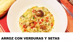 receta de arroz con verduras y setas