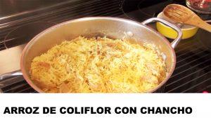 receta arroz de coliflror con chancho