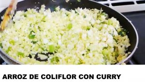 receta arroz de coliflor con curry