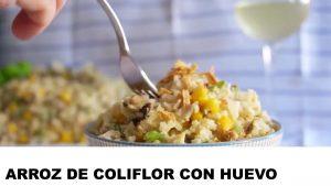 receta arroz de coliflor con huevo