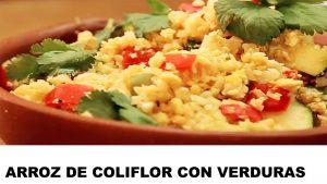 receta arroz de coliflor con verduras