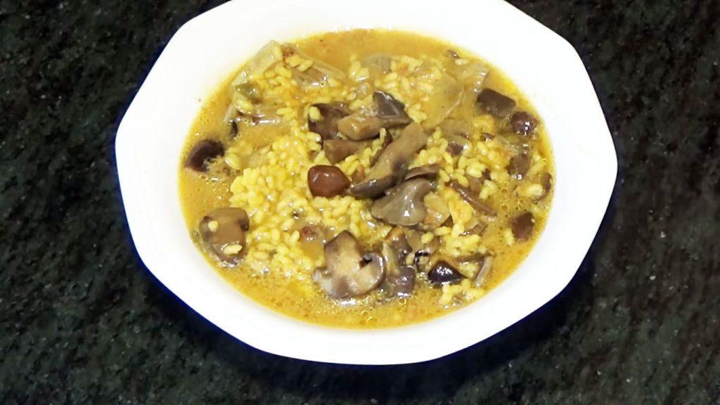receta de arroz con pato y setas