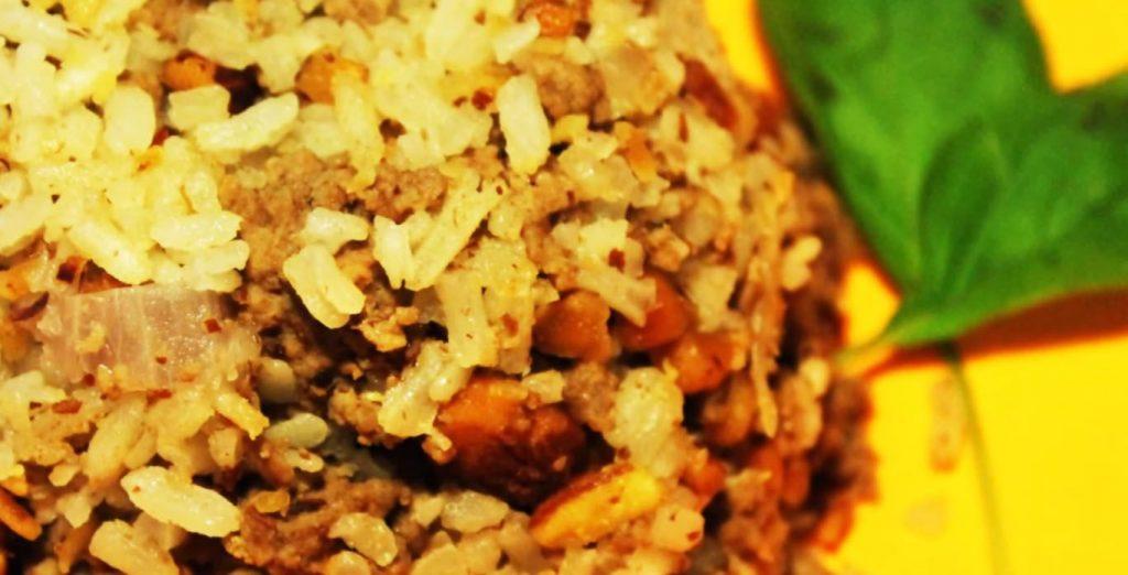 receta de arroz árabe con pollo y almendras