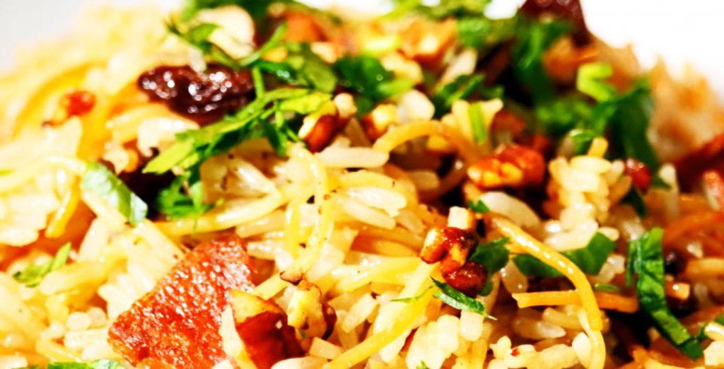 receta de arroz árabe con tocino
