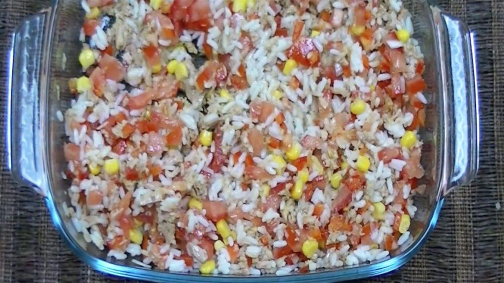 receta de arroz con atún y tomate