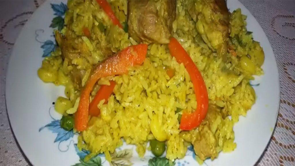 receta de arroz con chancho verde