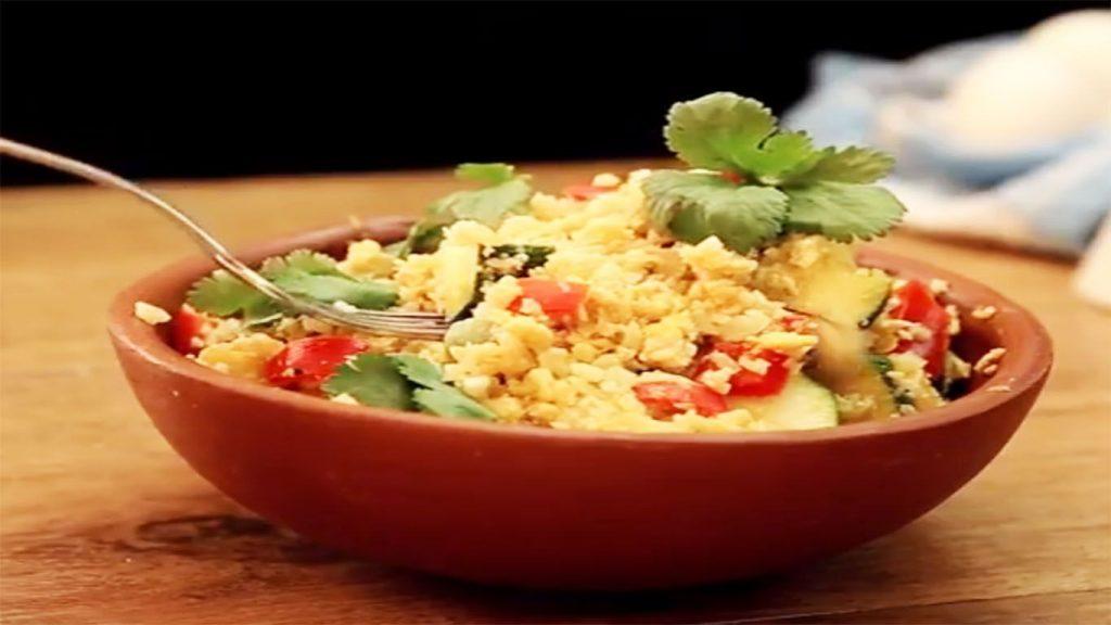 receta de arroz de coliflor con verduras