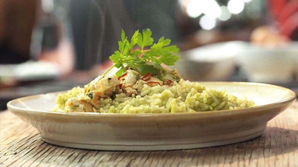 receta de arroz con espinacas y pollo