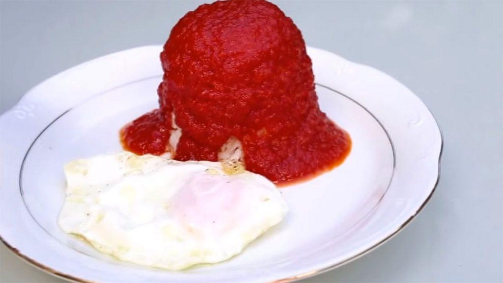 receta de arroz con huevo y tomate
