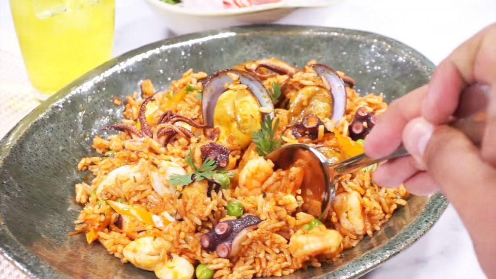 receta de arroz con mariscos panameño