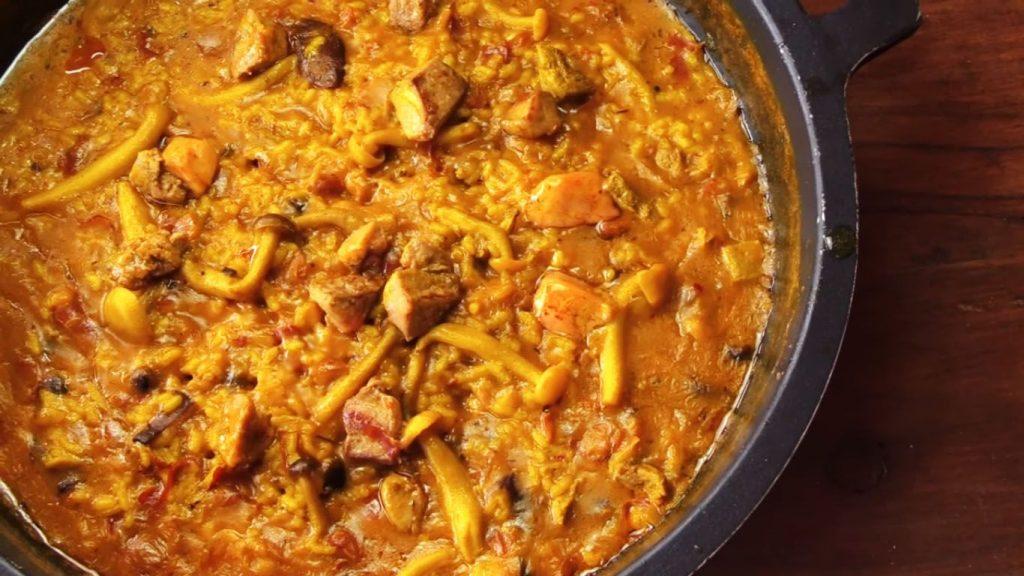 receta de arroz con pato, setas y foie